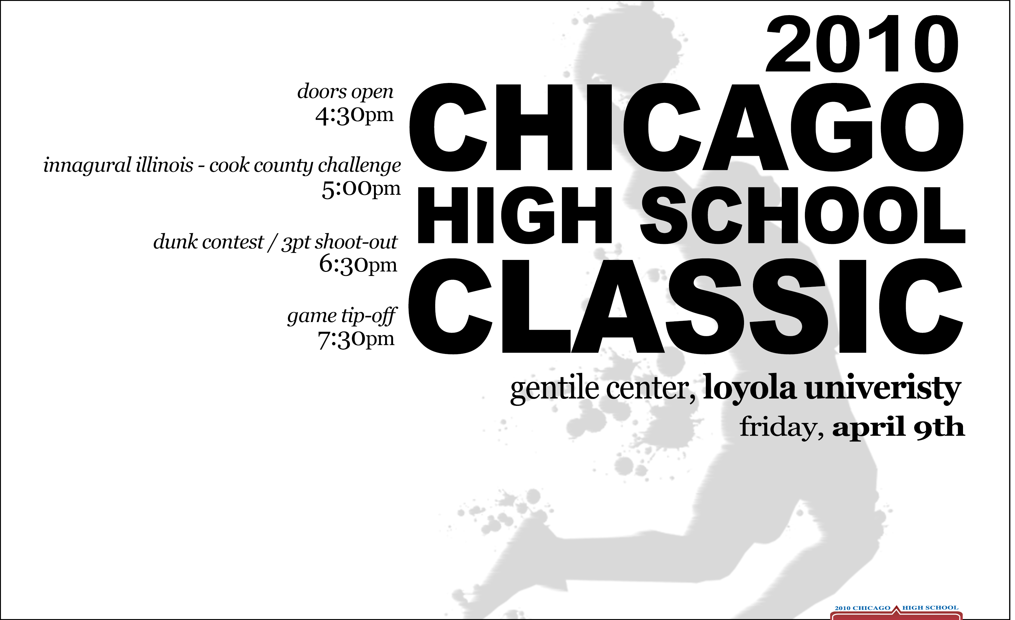 Chicago High School Classic Flyer